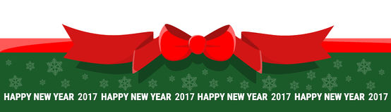 För banerferie för lyckligt nytt år garnering för beröm med kopieringsutrymme royaltyfri illustrationer