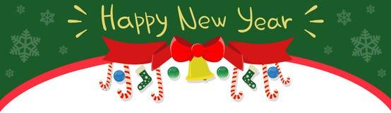 För banerferie för lyckligt nytt år garnering för beröm med kopieringsutrymme vektor illustrationer