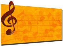 för banergrunge för bakgrund 2 musik Royaltyfri Foto