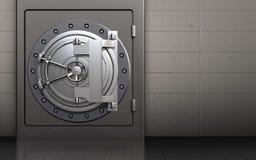 för bankdörr för stål 3d dörr för bank för stål Royaltyfria Bilder