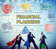 För bankrörelsebokföring för finansiell planläggning begrepp för pengar arkivfoton