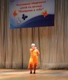 För barn dansare ner Royaltyfria Foton