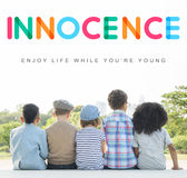 För barnbarn för ungar oskyldigt begrepp för barn Royaltyfria Foton