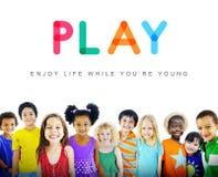 För barnbarn för ungar oskyldigt begrepp för barn fotografering för bildbyråer