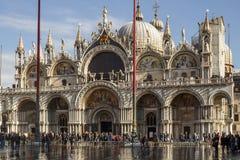 För basilikan och St Mark för St Mark ` s ` s kvadrerar i Venedig, Italien, 2016 Royaltyfria Foton