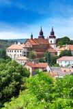 För basilikanad för St. Procopius kloster (UNESCO), Trebic, Vysocina, Tjeckien, Europa Royaltyfria Bilder