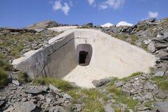 för battericenis för alpino b5 vallo ww2 för mont Royaltyfria Foton