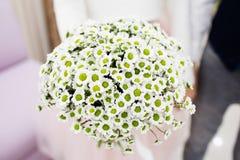 För beautifilbröllop för brud hållande bukett royaltyfri foto