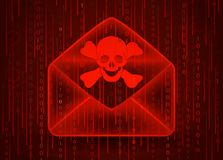 för begreppsbild för dator 3d virus Arkivfoton
