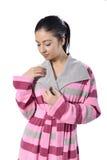 för begreppshälsa för badrock härligt barn för kvinna arkivfoton