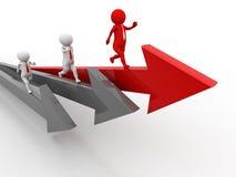 för begreppsillustration för konkurrens 3d ledare Begrepp Illustration för affärskonkurrensbegrepp 3d vektor illustrationer