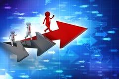 för begreppsillustration för konkurrens 3d ledare Begrepp Illustration för affärskonkurrensbegrepp 3d stock illustrationer