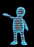 för begreppsinternet för binär kod person Royaltyfri Fotografi