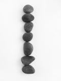 för begreppslivstid för jämvikt allsidiga pebbles fortfarande Royaltyfri Fotografi