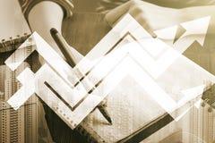 för begreppstillväxt för bakgrund 3d den isolerade illustrationen framförde white Royaltyfria Foton