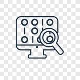 För begreppsvektor för binär kod som linjär symbol isoleras på genomskinligt b vektor illustrationer