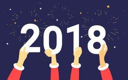 för begreppsvektor för 2018 bokstäver illustration Royaltyfria Bilder