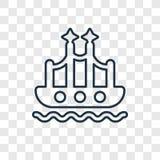 För begreppsvektor för guld- port som linjär symbol isoleras på genomskinligt b stock illustrationer