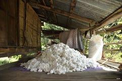 För behandlingsgrupp för bomull Material stapel Royaltyfria Bilder