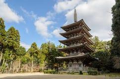 För berättelsebuddist för japan fem pagod Arkivbild