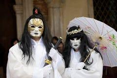 för berömd traditionell venezia venice italy för karnevalgarnering maskering Royaltyfri Foto