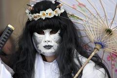 för berömd traditionell venezia venice italy för karnevalgarnering maskering Arkivbild