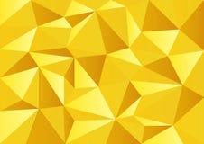 För berömpolygon för gul guld bakgrund Arkivfoto