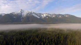 För bergkaskad för vit häst bagare Snoqualmie National Forest för vildmark för flod för stenblock för område arkivfilmer
