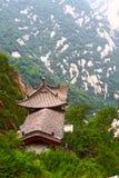 för bergpagoda för porslin huashan sten royaltyfria bilder