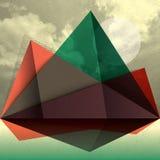 För bergShape för vektor abstrakt bakgrund triangel Arkivbilder