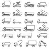för bilbilar för svart huvuddel vita medel för vektor för trans Royaltyfria Bilder