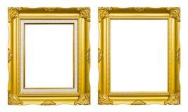 för bildfoto för forntida ram guld- stil Arkivfoto