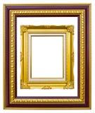 för bildfoto för forntida ram guld- stil Arkivbilder