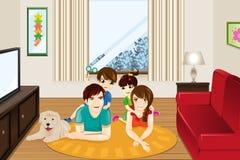 för bildjpg för familj home vektor Arkivfoton