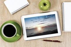 för bildkontor för illustrationer 3d arbetsplats Royaltyfri Fotografi