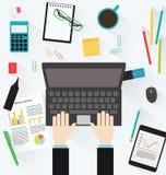 för bildkontor för illustrationer 3d arbetsplats Fotografering för Bildbyråer