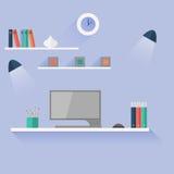för bildkontor för illustrationer 3d arbetsplats Arkivfoto