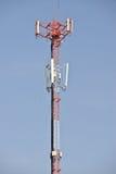 för bildmorgon för kommunikation tidiga torn för torn för silhouette Arkivbild