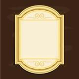 För bildramar för tappning guld- illustration för vektor för design Vektor Illustrationer