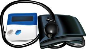 för bildskärmtryck för blod manuell tonometer Arkivbilder