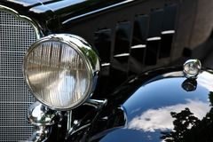För bilhuvud för tappning svart ljus Royaltyfria Foton