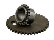 2 för bilkamaxel för antik tappning amerikanska kugghjul för tajming arkivfoto