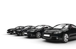 För bilperspektiv för svart kallt skott Royaltyfria Bilder