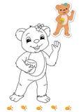 för björnbok för 15 djur färgläggning Fotografering för Bildbyråer
