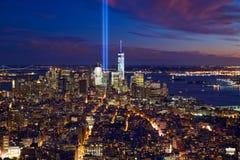 för blå för manhattan byggnadsstad för bakgrund hög horisont york ny sky Arkivfoto