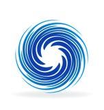 För blått vågvektor swirly vektor illustrationer