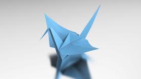 för blåttorigami för illustration 3D fågel Fotografering för Bildbyråer