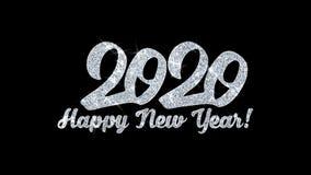 2020 för blinkatext för lyckligt nytt år hälsningar för partiklar för önska, inbjudan, berömbakgrund