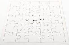 för blockpussel för jigsaw en white Arkivbilder