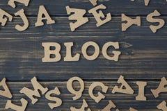 för blogbegrepp för bakgrund 3d ord för white Royaltyfri Fotografi